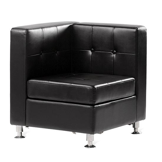 Boca Corner - Black Leather